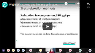 Webinar – Ageing and lifetime estimation of rubber materials by stress relaxation